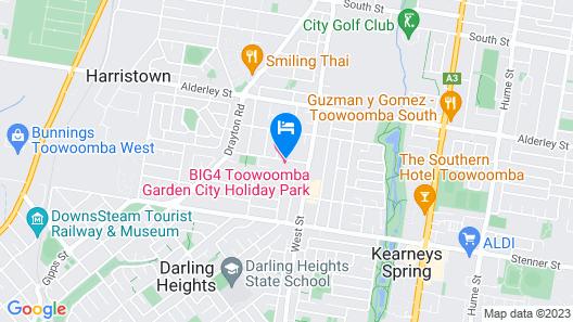 BIG4 Toowoomba Garden City Holiday Park Map