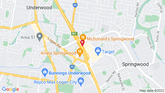 Nightcap at Springwood Hotel Map