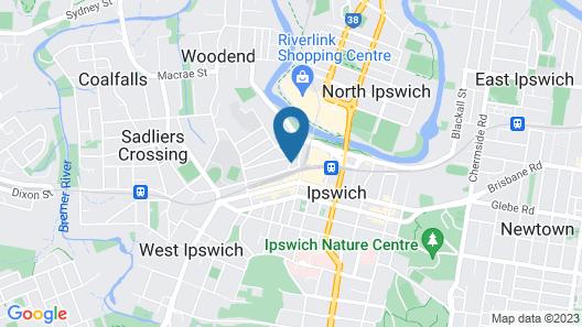 Oaks Ipswich Aspire Suites Map