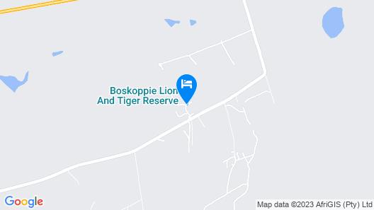 Boskoppie Lion & Tiger Reserve Map