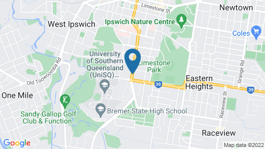 Ipswich City Motel Map
