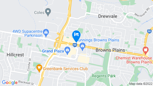 Browns Plains Hotel Map