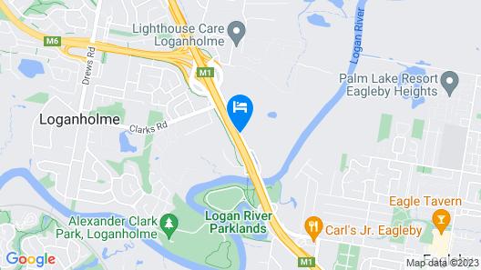 McNevins Loganholme Motel Map