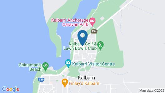 Kalbarri Blue Ocean Villas Map