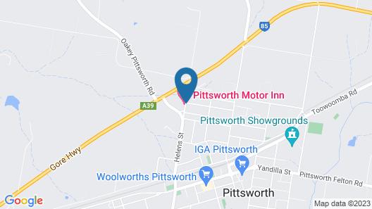Pittsworth Motor Inn Map