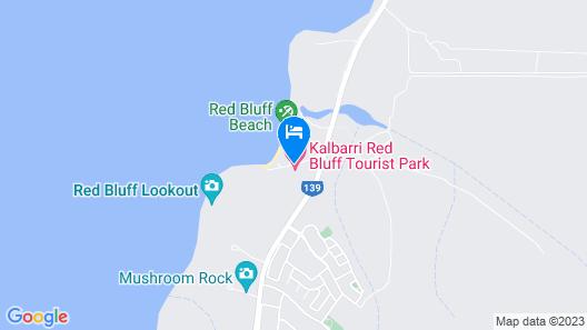 Kalbarri Red Bluff Tourist Park Map