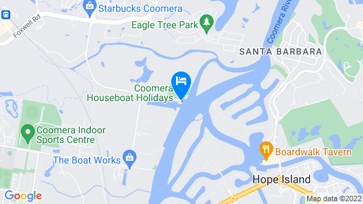 Coomera Houseboat Holidays Map