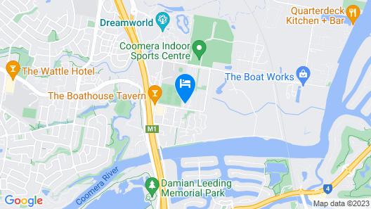 Gold Coast Theme Park Villa Map