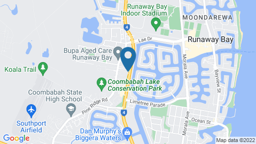 Runaway Bay Motor Inn Map