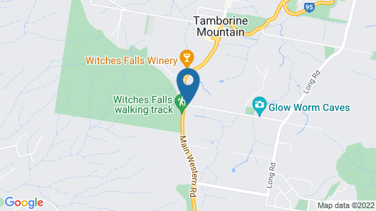 Witches Falls Cottages Map