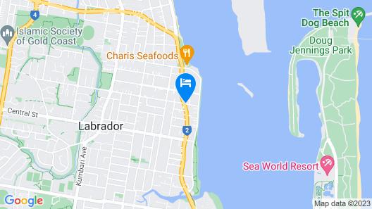 Broadwater Keys Map