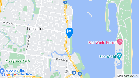 Blue Waters Apartments Map