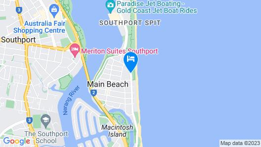 Main Beach Tourist Park Map