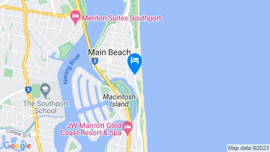 Norfolk Luxury Beachfront Apartments Map