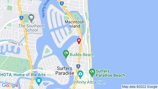 Marriott Vacation Club at Surfers Paradise Map