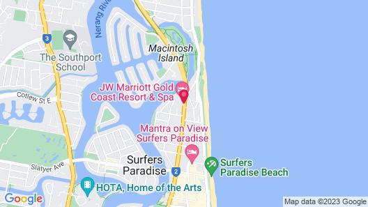 JW Marriott Gold Coast Resort & Spa Map