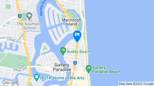 Surfers Paradise Marriott Resort & Spa Map