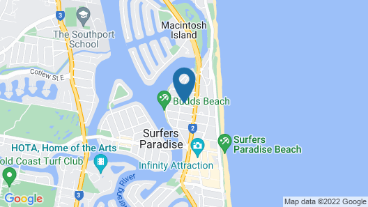 Arise Ruby Gold Coast Map