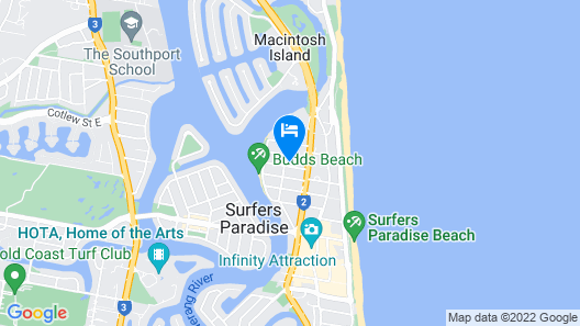 Arise Ruby Gold Coast Map