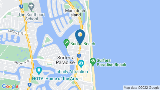 Paradise Resort Gold Coast Map