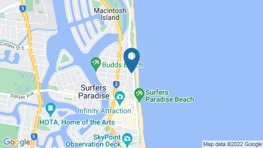 Oceanfront in Surfers Paradise Retreat Map