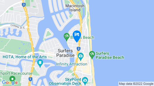 Budds in Surfers Map