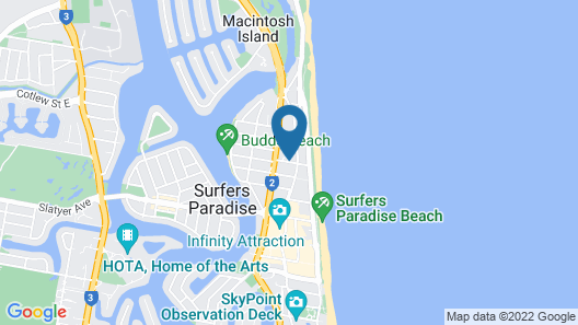 QT Gold Coast Map