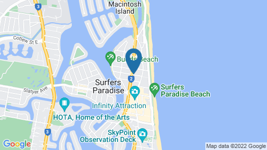 Mantra Crown Towers Map