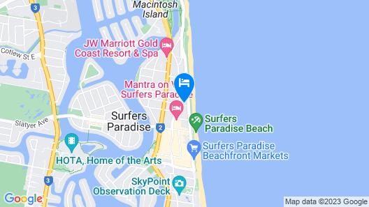 Meriton Suites Surfers Paradise Map
