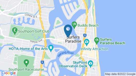 Surfers Paradise Holiday Beach House Map