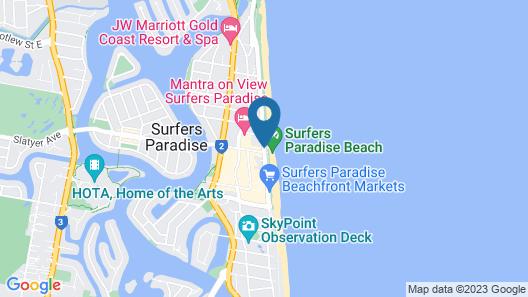 Chateau Beachside Map