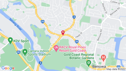 RACV Royal Pines Resort Gold Coast Map