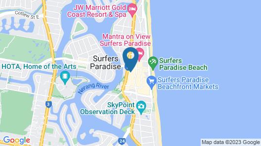 Chevron Renaissance - HR Surfers Paradise  Map