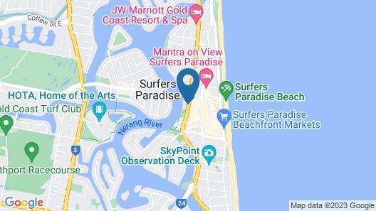 Vibe Hotel Gold Coast Map