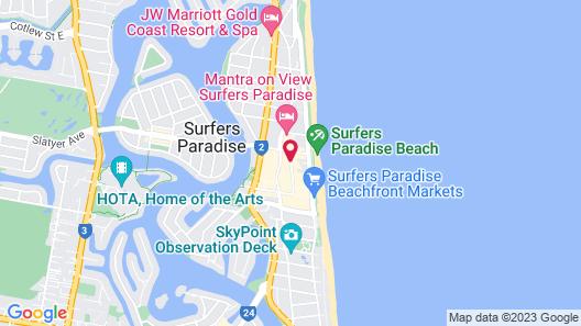 St Tropez Apartments Map