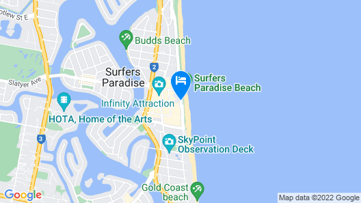Grosvenor Beachfront Apartments Map
