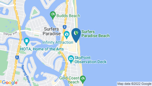 Zenith Ocean Front Apartments Map