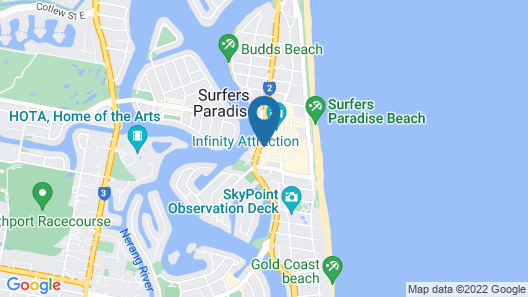 Apartment Stay - Circle on Cavill Map
