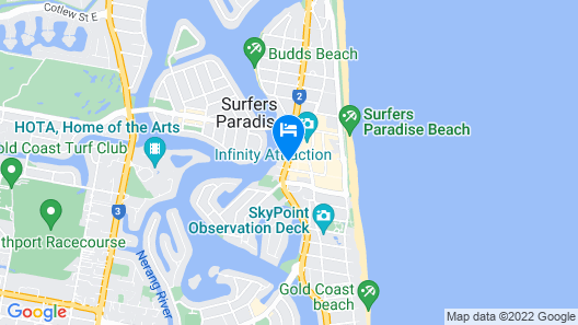 Mantra Circle on Cavill Map
