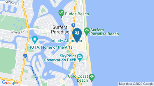 H-Residences Surfers Paradise - GCLR Map