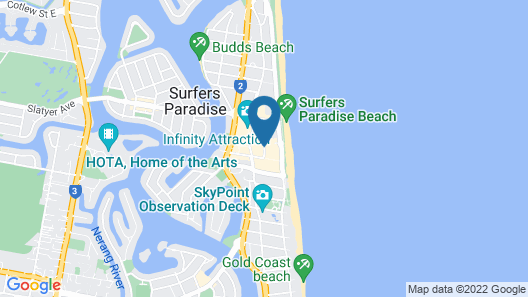 Hilton Surfers Paradise Hotel and Residences Map