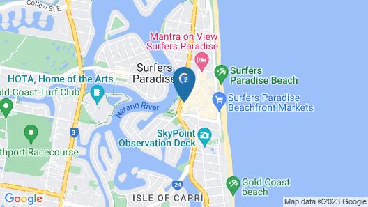 Circle on Cavill Apts - Holiday Paradise Map
