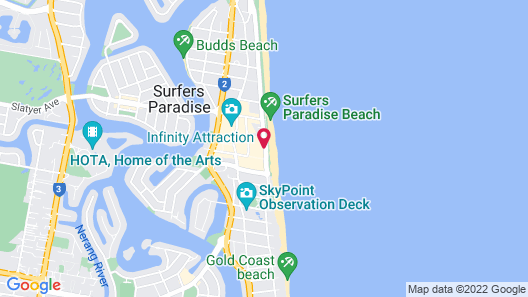 Peppers Soul Surfers Paradise Map