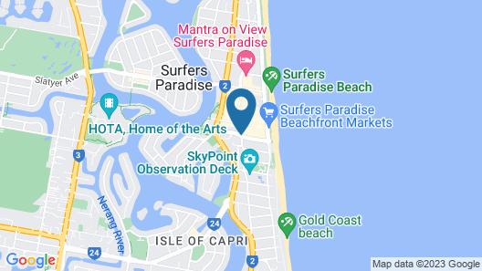 Novotel Surfers Paradise Map
