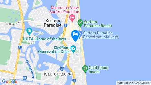 Beachcomber Surfers Paradise Map