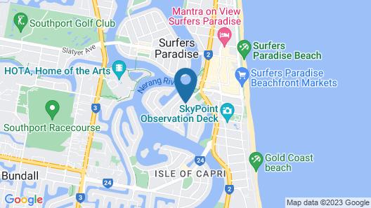 Surfers Riverside Apartments Map