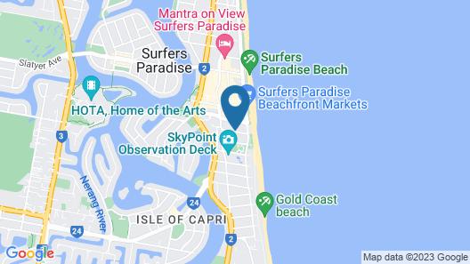 Trickett Gardens Holiday Inn Map