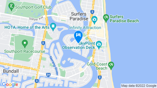 Sleeping Inn Surfers Paradise - Hostel Map