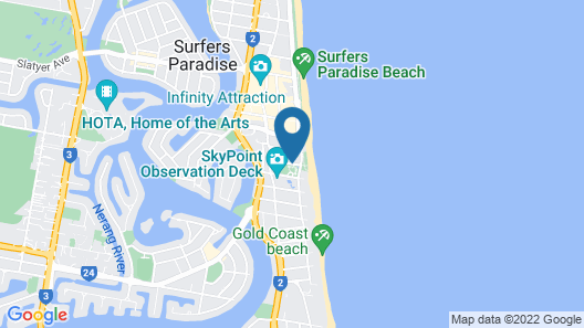 Surf Regency Apartments Map