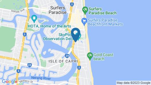 voco Gold Coast Map